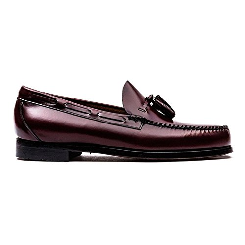 Bass Larkin Mens Leather Loafers Wine - 42 EU - Bass Loafer