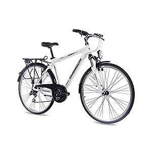 41kL8ioqQZL. SS300 '28pollici di lusso in alluminio City Bike Trekking ruota da ciclismo uomo chrisson intouri Gent con 24G SHIMANO Bianco Opaco