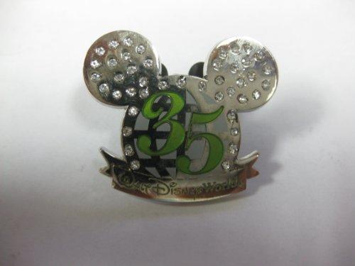 Disney Pin Edelsteinbesetztes Silber Mickey Mouse Ohren 35Walt Disney World (Disneyland Lanyard)