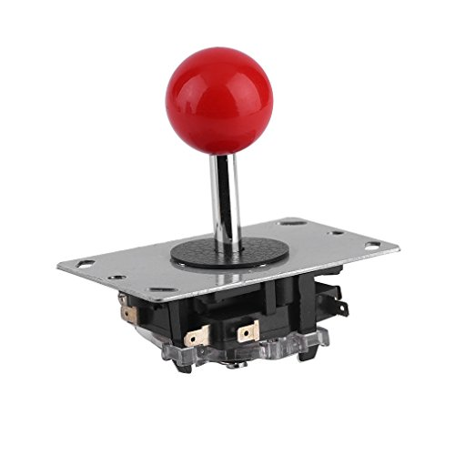 Kebidu Arcade Joystick Game DIY Joystick Ball Handle Joy Stick Red Ball Replacement Fighting Stick Parts Machine Switchable Ball