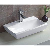 warenplus2014 Wash Basin Ceramic White 48.5x 32x 10.5cm
