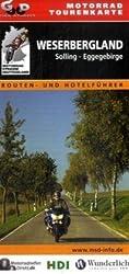 Motorrad-Tourenkarte Weserbergland: Routen- und Hotelführer