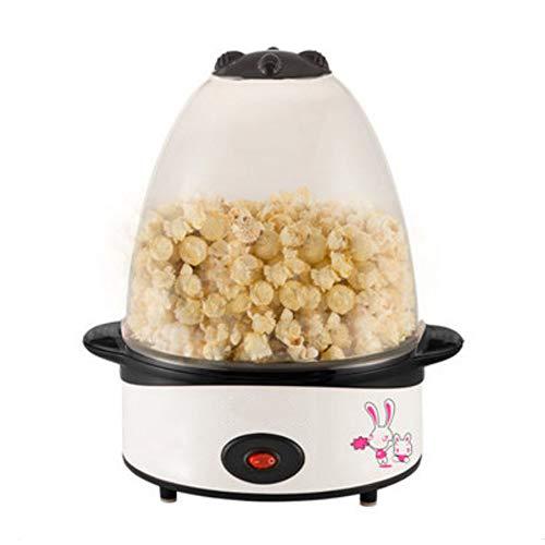 LZC Kleine elektrische Popcorn-Maschine, kompakt, tragbar und einfach zu bedienen One-Touch-Popcorn-Maschine für Familien, Partys, etc, weiß -
