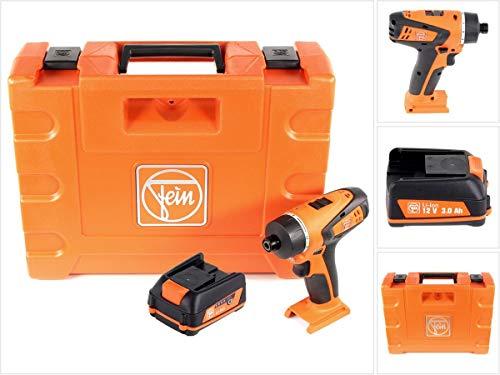 FEIN ABSU 12 W4 - Taladro atornillador inalámbrico 12 V, 20 Nm, 2 marchas, 1 batería de 3,0 Ah, 12...