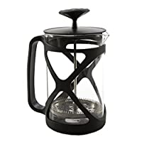 Primula Tempo Coffee Press - For Rich, Non-Bitter Coffee - French Press Design - Easy to Use - Makes 6 Cups - Black