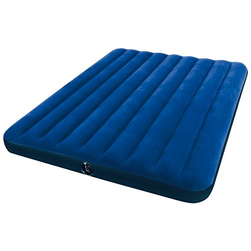 Intex Luftbett Classic Downy Blue King, Blau, 183 x 203 x 22 cm
