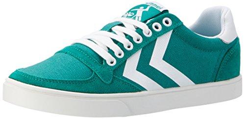 Hummel Unisex-Erwachsene Slimmer Stadil Waxed Canvas Lo-Top Low, Grün (Ultramarine Green), 39 EU (Leinen Schuhe Herren)