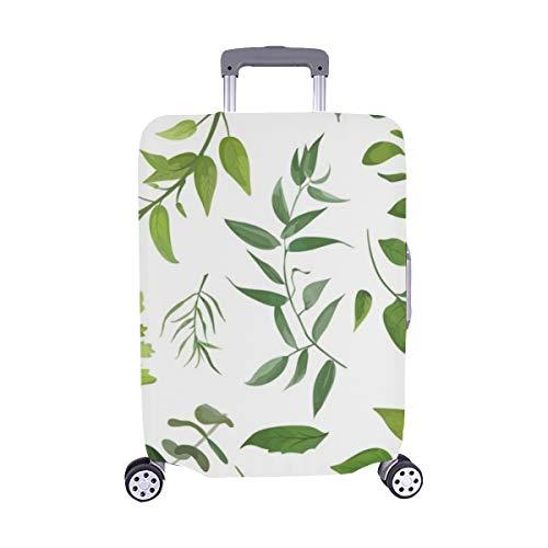 Eukalyptus-Palmfarn Verschiedene Spandex-Trolley-Koffer Reisegepäck-Schutzkoffer-Abdeckung 28,5 X 20,5 Zoll