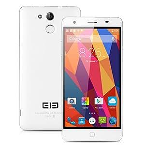 "Elephone P7000 Smartphone LTE 4G 5.5"" Touch ID Android 5.0 MT6752 64bit 3GB + 16GB Octa Core 1.7GHz Dual SIM OTG 13MP, Bianco"