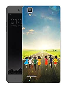 "Humor Gang Children And Kids Life Printed Designer Mobile Back Cover For ""Oppo F1"" (3D, Matte Finish, Premium Quality, Protective Snap On Slim Hard Phone Case, Multi Color)"