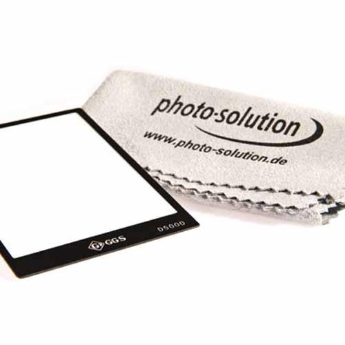 GGS Displayschutz aus Glas für Nikon D5000 optisch vergütetes Echtglas Protector