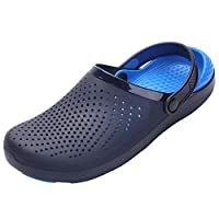 Nishiguang Unisex Adults Lightweight Clogs Garden Shoes Beach Sandals Summer Slip-On Breathable Casual Slippers Beach Pool Available in a Variety of Colors blue40/41