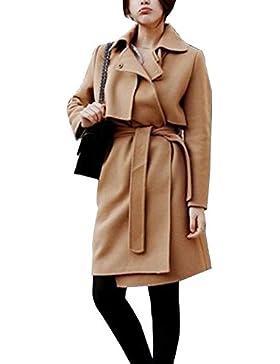 Cappotto Trench Coat Parka Giacca Lunga Inverno Moda Manica Lunga Per Donna