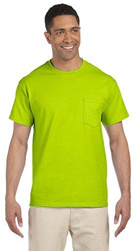 Gildan Ultra Cotton 170 ml Pocket T-Shirt (G230) Safety Green - Grün - 4X-Groß -