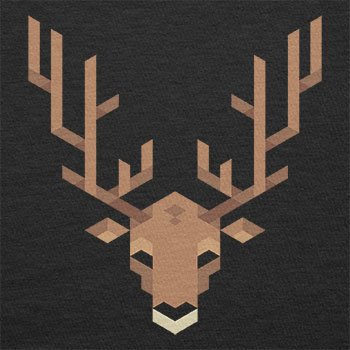 Texlab – Simple Stag – sacchetto di stoffa Nero