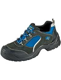 """Chaussures Protectrices S1 """"Göhren"""" Imitation des Chaussures Sportives, Cuir de Velours, Bouchon d'acier Semelle PUR Antidérapante - noir, 40"""