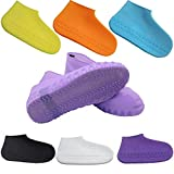 Exseson Non-Slip Silicone Rain Boot Shoe Cover Waterproof Reusable Foldable Overshoes with Excellent