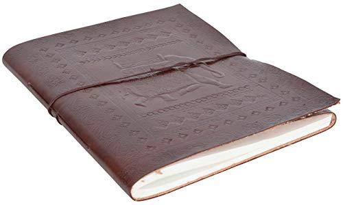 Gusti Leder nature Notizblock Buch Tagebuch DIN B4 Kladde Skizzenbuch aus Rindsleder Groß Lederaccessoire Traditionell Fotobuch Lederbuch Alltag Universität Büro Elefant P19