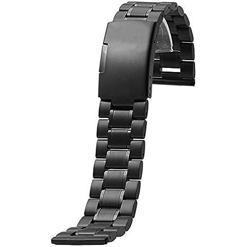 Gossip Boy pulsera banda de reloj de acero inoxidable para Motorola Moto 3602nd 42mm, color Negro -