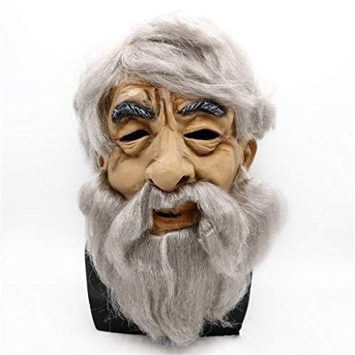 LYLLB-festival items Latex alte Mann Maske Haube Halloween -