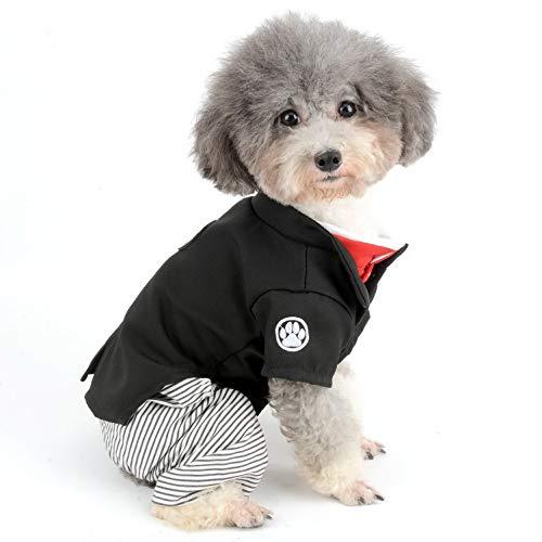 Für Kostüm Hunde Kimono - SELMAI Pet Kostüm Kimono Formale Mädchen Hund und Boy Overall Outfits Smoking Shirt für Kleine Hunde Katzen Hochzeit Party Kleid Kleidung