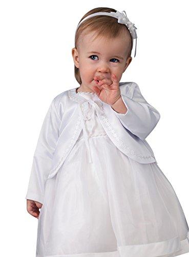 Giacca di Battesimo bambina bianco 6 mesi