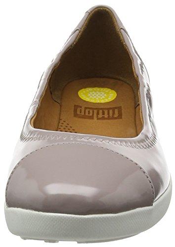 FitFlop F-Pop Patent, Ballerine Donna Grigio (Plumthistle)