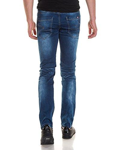 BLZ jeans - John klassischen verblasste blau faltig Mann Blau
