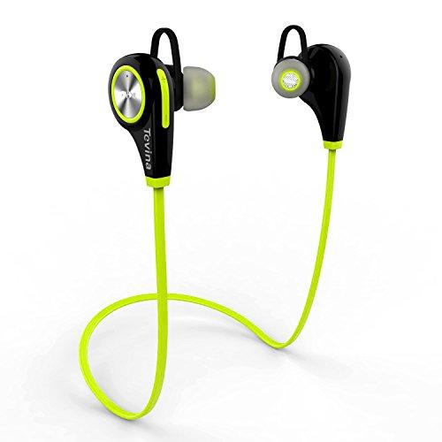 Auricolare Bluetooth, Tevina Auricolari Wireless 4.1 Headset Stereo Cuffie Sportive con Microfono Resistente al Sudore per iPhone 6S/6/6 Plus/ 6S Plus /5S ,Samsung ,Huawei Smartphone,Tablet PC Ecc.