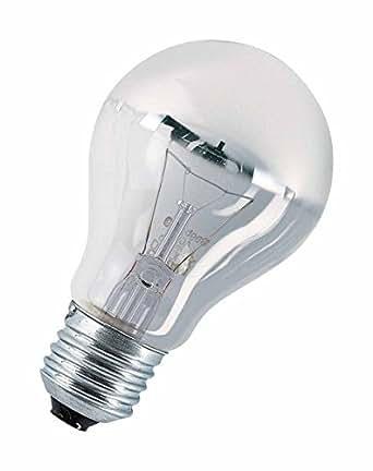 Osram gl hlampe spezial kopfspiegellampe in silber e27 sockel 40 watt beleuchtung - Kopfspiegellampe led e27 ...