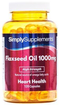 Aceite de Linaza 1000mg - ¡Bote para 4 meses! - 120 Cápsulas - SimplySupplements