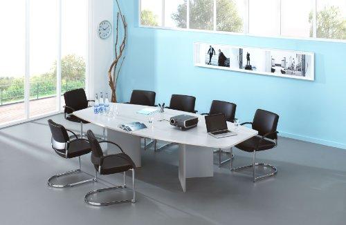 Konferenztisch - Gestellvariante Wangen, für 10 Personen - lichtgrau - Besprechungstisch Besprechungstische Besuchertisch Besuchertische Bürotisch...