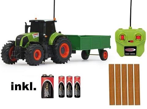 RC ferngesteuerter Traktor Claas Axion 850 mit Anhänger 1:28 - RTR - inkl. Batterien