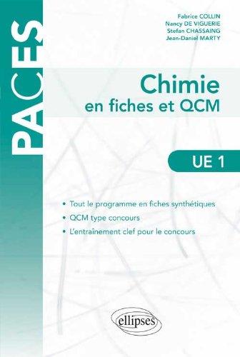 Chimie en Fiches et QCM UE1