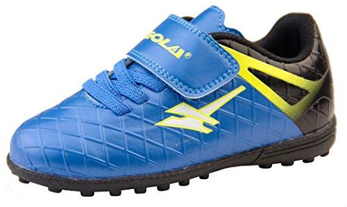 Gola Jungen Activo5 Astroturf Fußballschuhe Sports Turnschuhe Blau und Schwarz EU 26 - Fußball Inspirierende