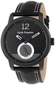 Hush Puppies Freestyle Men's Automatic Watch with Black Dial Analogue Display and Black Leather Strap HP.3780M.2502