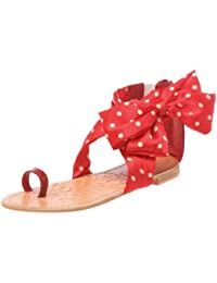 Colors of California Sandalo Con Tomaia In Foulard, Chaussures basses femme