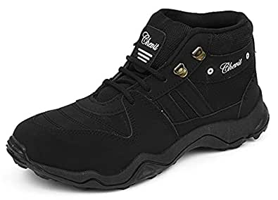 Chevit Men's Stylish 416 Black Tracking Casual Running Shoes (Joggers & Sports Shoes) 416-10