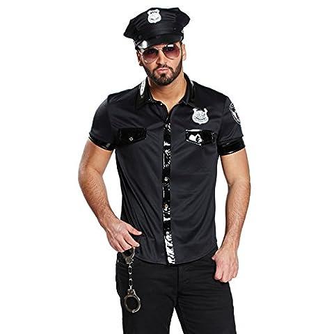 Sexy Polizist Polizei Kost�m Herren Polizeihemd Polizeishirt Polizeikost�m Hemd Shirt Uniform Polizeiuniform US Cop