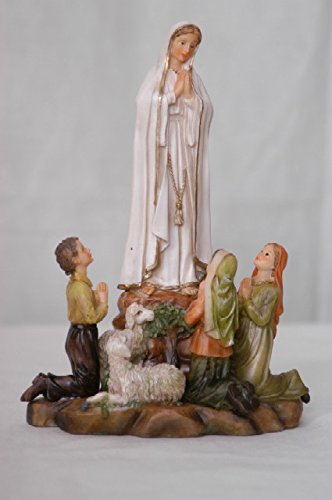 Decocentrum Our Lady of Fatima Statue Catholic Virgen de Santa 20cm (Fatima-statue)