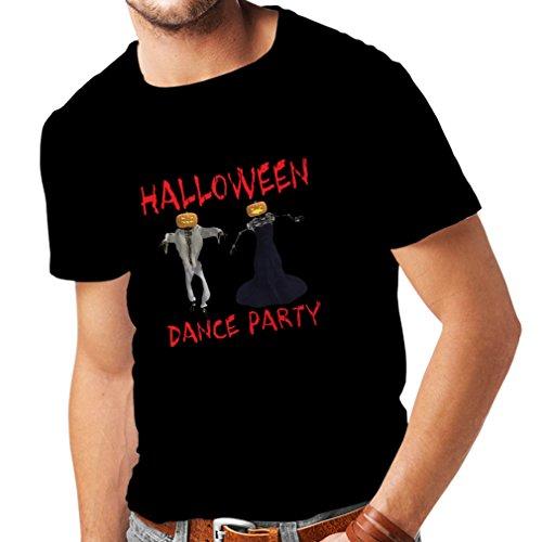 Männer T-Shirt Coole Outfits Halloween Tanz Party Veranstaltungen Kostümideen (Large Schwarz Mehrfarben) (Bier Paar Halloween Kostüme)
