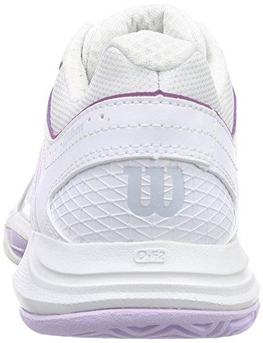 Wilson NVISION WOMAN, Scarpe da tennis donna Multicolore (Mehrfarbig (White / White / Violet Ice))