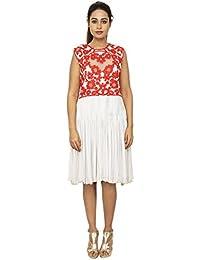 Rina Dhaka Women's A-Line Knee-Long Dress