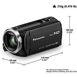 Panasonic HC-V270 HD Video Camera (Black)+ Free 16 gb sd Card and Free Carry Bag