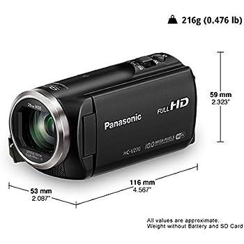 Panasonic HC-V270 Super Zoom Full HD Camcorder, Black
