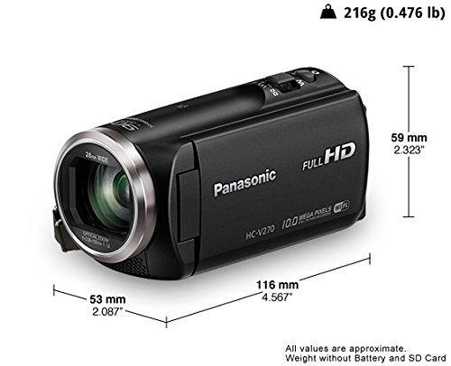 Panasonic HC-V270 HD Video Camera (Black)+ Free 16 gb sd Card and Free Carry Bag