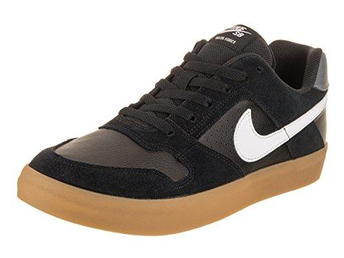 NIKE Herren Sport Freizeit Schuhe SB ZOOM DELTA FORCE VULC Sneaker 942237 Neu, Größe:47.5 EU, Farbe:005 Black/White/Gum Schwarz Weiß (Sneakers 13 Nike Schwarze Größe)