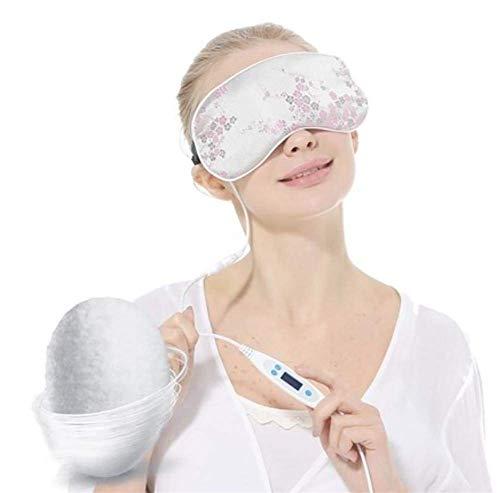 Ameuli Augenmaske - Augenmaske - Schlafmaske - Seide Dampf heiße und Kalte Brille - Geeignet für Männer und Frauen - entlasten Augenermüdung Dunkle Kreise - Heizung Medizin Wartung,A