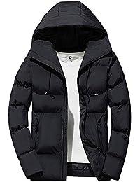 Giacche Uomo Uomo Inverno Tempo Libero Cerniera Felpa con Cappuccio Giù Giacche Stare in Piedi Collare Cappotto Outwear Top