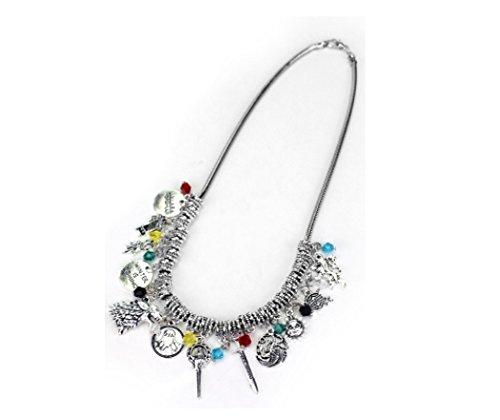 Halskette mit Game of Thrones-Motiv, mit Samtsäcken, im Vintage-Stil, Metall-Anhänger für Fans (Wie Halloween Begann)